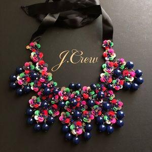 New J. Crew Garden statement bib necklace